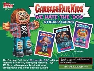 2019 Topps Garbage Pail Kids #1 We Hate The '90's Stickers BLASTER BOX SLD CASE