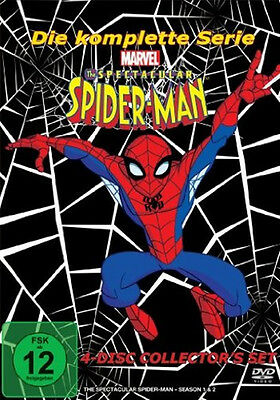 The Spectacular Spider Man the Complete Tv Series Spiderman 4 DVD Box New