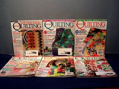 LOT of 6 McCALL'S QUILTING MAGAZINES COMPLETE YEAR 2010 FEB.-DEC. QUILT PATTERNS