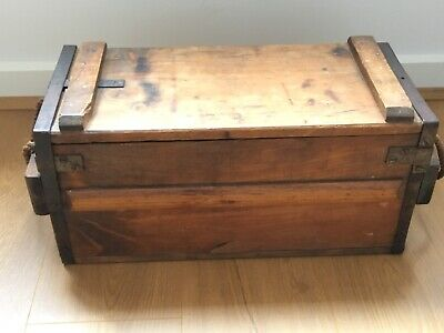 AMMUNITION BOX, Wooden, Authentic, Collectable Item From WWII