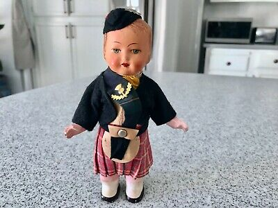 Antique Vintage German Wind Up Scotsman Scottish Man Doll Toy 1930's Figure