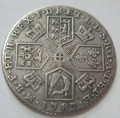 UK 1797 George III Silver Shilling Coin