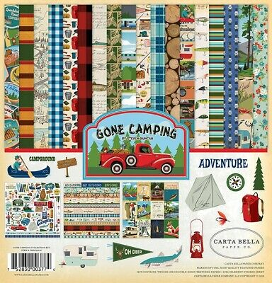 Carta Bella Gone Camping Collection 12 x 12 Collection Kit Paper pad & Stickers