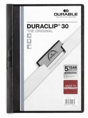Durable  Duraclip 30 Report File 3mm A4 Black 220001 (PK25)