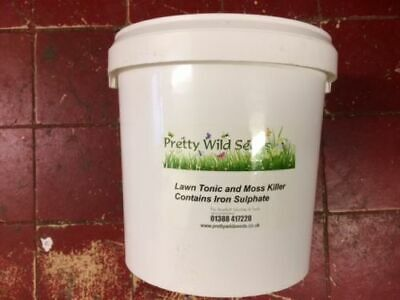 Fast Acting Moss Killer EASY DISSOLVE Damp  Iron Sulphate 10 Kg Tub Lawn Grass