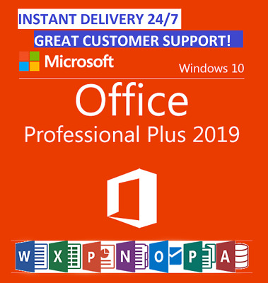 Instant Genuine MS Microsoft Office 2019 Pro Plus Key 32/64Bit Download License
