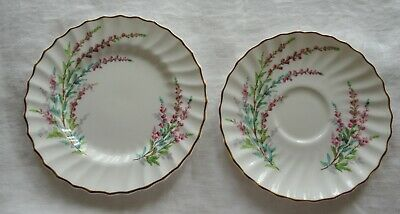 ROYAL DOULTON BELL HEATHER 5 pc Place Setting Dinner Salad Side Cup Saucer