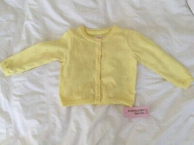 Baby Girl Yellow Cardigan 9-12 Months NWT