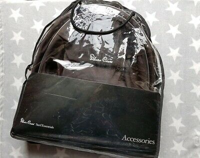 Silver Cross Surf Hood Apron Black Colour Pack For Pram or Carrycot in Bag 1/2/3