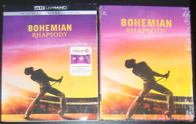 BOHEMIAN RHAPSODY 4K UHD+Blu-Ray+slipcover Target digibook exclusive sold out