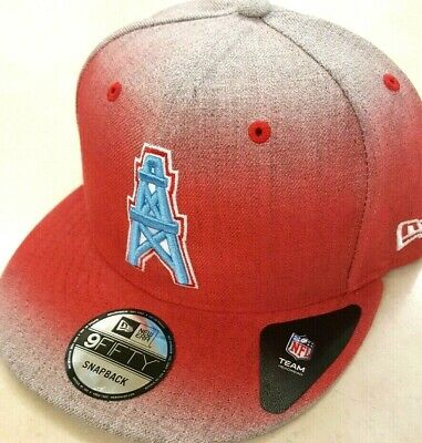 info for 5610f adac2 Houston Oilers Historic Logo Nfl New Era 9 Fifty Faded Heather Snapback Hat  Cap