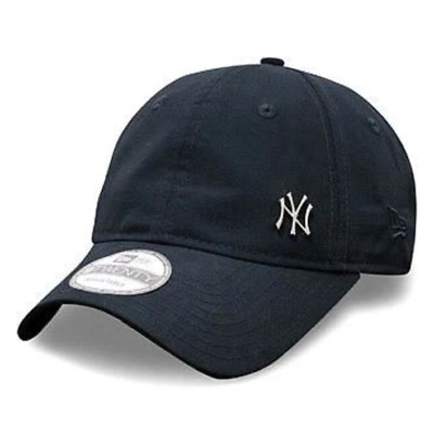 New Era Unisex MLB Flawless Mini Metal Logo New York Yankees Navy 9TWENTY Cap