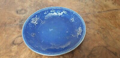 Antique Chinese Powder Blue Plate A/F