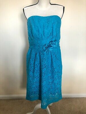 David S Bridal Strapless Sunny Lace Bridesmaid Dress Malibu