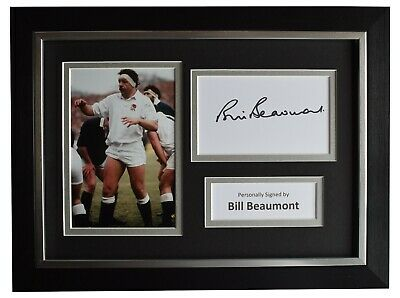Bill Beaumont Signed A4 Framed Autograph Photo Display England Rugby AFTAL COA