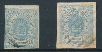 [36534] Luxembourg 1859/63 Two good classical stamps Very Fine used