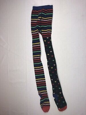 b424a61f63cf0 HANNA ANDERSSON SZ 130-140 Tights Multicolor Stripes Knit EUC girls ...