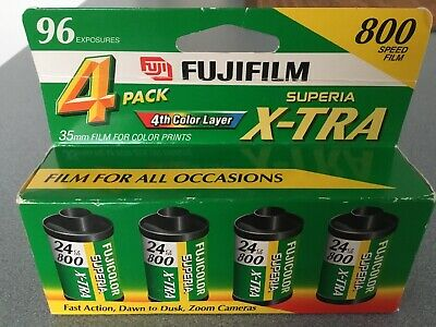 Fujifilm Superia 800 Speed 24 Exposure 35mm Film - 4 Pack Expiration 2003