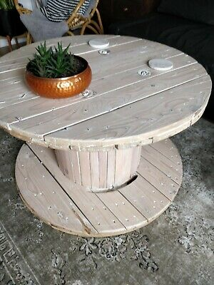 Surprising Wooden Cable Reel Drum Spool Upcyled 50 00 Picclick Uk Caraccident5 Cool Chair Designs And Ideas Caraccident5Info
