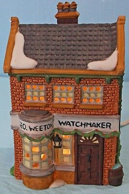 "1988 DEPT. 56 DICKEN'S VILLAGE SERIES ""GEO. WEETON WATCHMAKER"" #59269 with BOX"