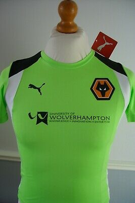 MEDIUM BOYS WOLVES PUMA YOUTH ACADEMY PLAYER ISSUE TRAINING SHIRT *BNWT 2nd*