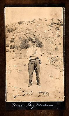 Uncle Roy the Prince of the Pistoleros ~ Gun ~ Pistol ~ Revolver ~ Vintage Photo