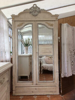 ~*Lovely Vintage French Painted Oak Break Down Armoire~*~