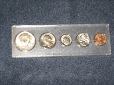 1969-D Uncirculated Mint State Coin Set in Plastic Holder 40% Silver Half