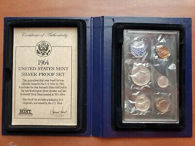 1964-P US MINT SILVER PROOF COIN SET in Nice Display Case