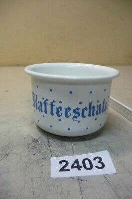 2403. Alte Emaille Email Tasse RIESS Old enamel coffee can