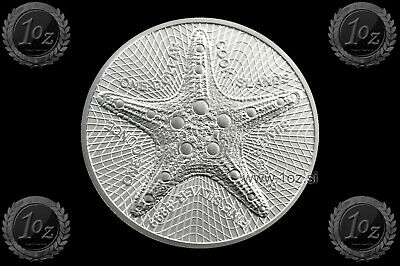 COOK ISLANDS 1 DOLLAR 2019 ( STARFISH ) 1oz SILVER Coin (Ag 999/1000) UNC / NEW
