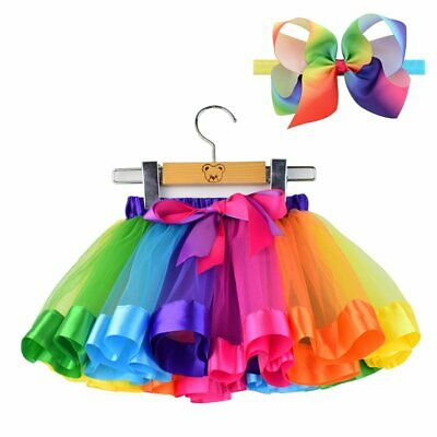 BGFKS Tulle Rainbow Tutu Skirt for Newborn Baby Girls Photography Outfit Sets Ba