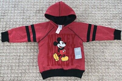 Disney Store MICKEY MOUSE Red Hoodie Sweatshirt Kids Size 4 Brand New NWT