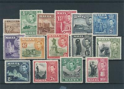 [55019] Malta 1938 good set MH Very Fine stamps $70 Very light hinged