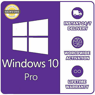 Win 10 Pro 32 / 64 Bits Original - Licencia - Key Genuine