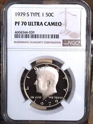 1979-S Kennedy Type 1 NGC PF 70 Ultra Cameo * Price Guide $100 - Rare! *