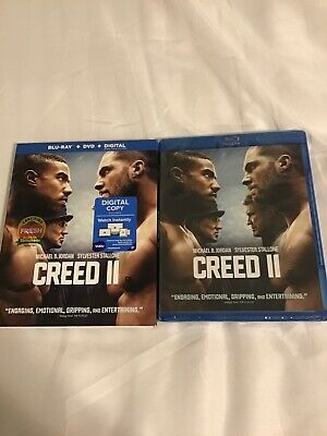 Creed II (Blu-ray + DVD + Digital, 2019) Brand New With Slipcover, Fast Shipping