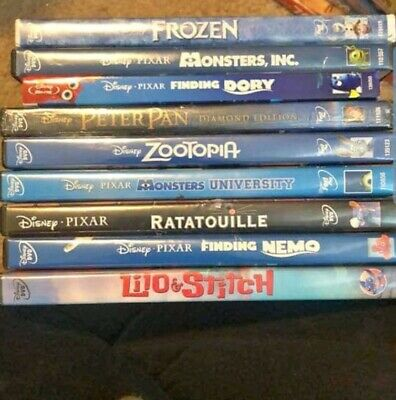 Huge Disney DvD lot all sealed! Zootopia frozen peterpan dory and more