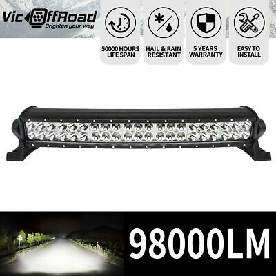 LED Light Bar Curved 20inch Cree Spot Beam Driving Offroad 4WD Truck SUV 20""