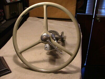 Classic Woody Boat Steering Wheel and Column