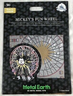 Disney Parks Mickey's Fun Wheel In Color Metal Earth 3D Model Kits - NEW