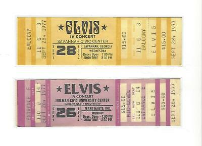 Two ELVIS PRESLEY 1977 REPRODUCTION/REPLICA CONCERT TICKETS ticket