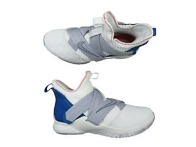 differently f918a 75b75 Nike Lebron Soldier XII Size 13 Mens Basketball Shoes White Blue AO2609 101  New