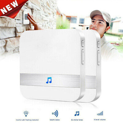 52-Tunes Chime Ding dong WIFI Wireless Doorbell Receiver Smart Dingdong