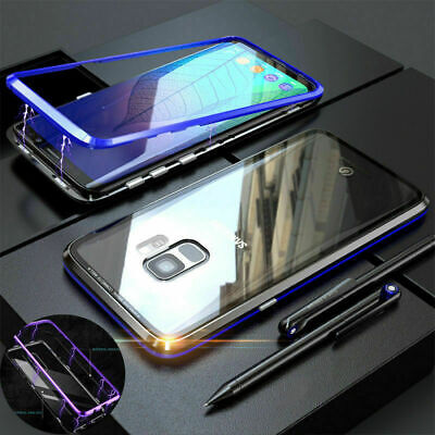360 Magnetic Tempered Glass Metal Full Cover Case For Samsung Galaxy S9 S9 Plus