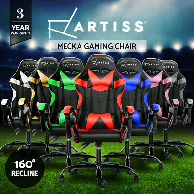 Gaming Office Chair Computer Executive Seating Racing Recliner Racer PU Leather