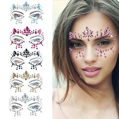 07f82d9d8 Face Crystal Sticker Eye Crafted Body Jewels Festival Temporary Tattoo  Glitter