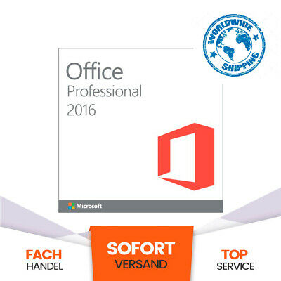 Microsoft Office 2016 Pro Professional Plus Genuine License Key Product Code ✅