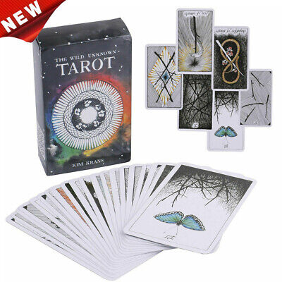 78pcs the Wild Unknown Tarot Deck Rider-Waite Oracle Set Fortune Telling DP Card