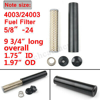 "FUEL FILTER 5/8-24 1/2""Bore BILLET ALUMINUM LOW PROFILE For Napa 4003 WIX 24003"